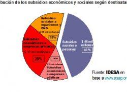 Solo 4 de cada 10 pesos son subsidios directos a personas.