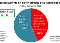 La mitad del aumento del déficit fiscal es por gastos no Covid-19